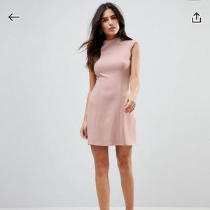 ASOS high neck seamed shift dress 🌸